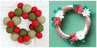 Easy Homemade Christmas Ornaments by 40 Diy Christmas Wreath Ideas How To Make Holiday Wreaths Crafts