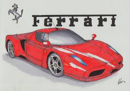 ferrari drawing ferrari enzo perspective by kgwilder on deviantart