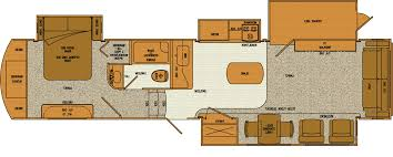Front Living Room 5th Wheel Floor Plans Two Bedroom Travel Trailer Fallacio Us Fallacio Us