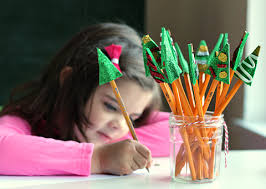 classmate pencils christmas tree pencil toppers craft great class gift no time