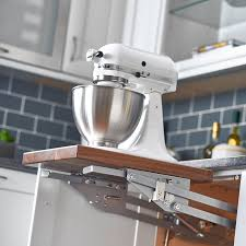Kitchen Appliance Lift - rev a shelf soft close heavy duty mixer lift ras ml hdsc