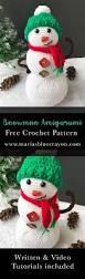 vw snowman snowman amigurumi crochet pattern free crochet pattern winter