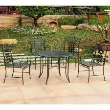 Amazon Com Patio Furniture Sets - amazon com international caravan mandalay iron outdoor patio