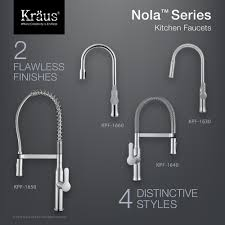 kitchen faucet kraususa com kraus nola 8482 single lever concealed pull down kitchen faucet