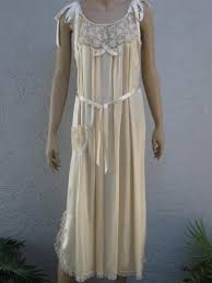 Honeymoon Nightgowns Moonlight Ivory Silk Nightgown With Tambour Lace 1920 U0027s Vintage