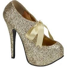 high heels designer bordello teeze 10g designer high heels gold glitter polyvore