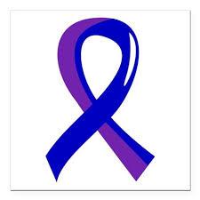 ra ribbon ra awareness ribbon 3 square car magnet 3 x 3 by rashirtsandgifts