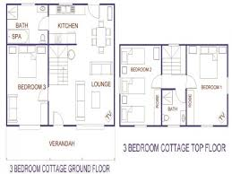 three bedroom cottage house plan bedroomhome plans ideas picture