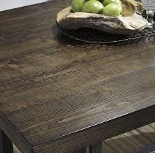 6 piece rectangular dining room counter table w pine veneers w 4