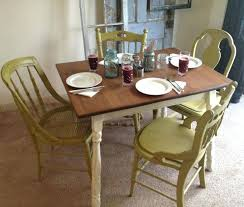 dining room table refinishing with chalk paint rustic kitchen