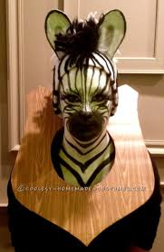 Halloween Costumes Zebra Amazing Taxidermy Animal Heads Funny Group Costume Costumes
