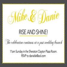 wedding brunch invitation wording they said i do yellow grey post wedding brunch invitation