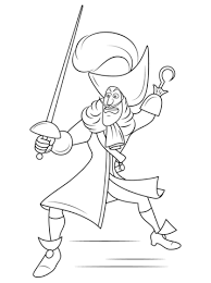 disney captain hook coloring free printable coloring pages