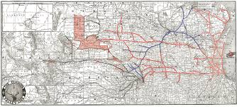 Missouri Road Map Chicago U0026 North Western Historical Society Maps