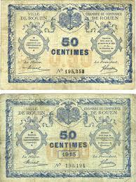 numero de chambre de commerce banknotes emergency notes rouen 76 ville et chambre de