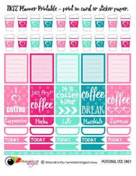 coffee planner stickers printable printable erin condren planner weekly kit coffee planner happy