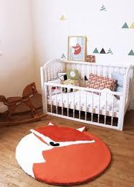 grand tapis chambre enfant gaspard le tapis renard antiderapant 100 x 110 cm déco bb