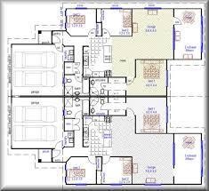 Duplex With Garage Plans Duplex Plans For Corner Lot Home Decor