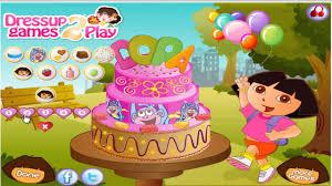 dora the explorer birthday cake decor game adventure hd hola