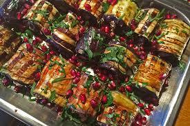 gemüseküche bara s gutes aus der küche auberginenröllchen mit walnüssen