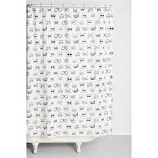 Plum And Bow Curtains Plum Bow Smart Cat Shower Curtain Polyvore