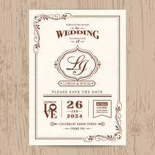 vintage style wedding invitations wedding invitation vintage style vector free