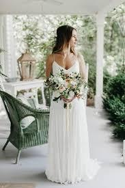 relaxed wedding dress relaxed boho carolina wedding at rock quarry farm boho
