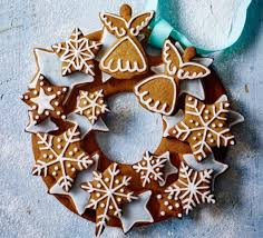 Decorating Christmas Wreath Cookies by Gingerbread Wreath Recipe Bbc Good Food