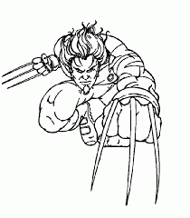 wolverine coloring pages attacking coloringstar