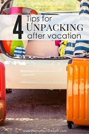 how to unpack from vacation