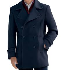 executive collection traditional fit double breasted peacoat