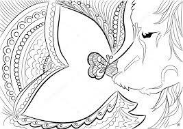 dog zen tangle love butterfly black white drawn doodle sketch