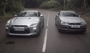 r34 old meets new nissan skyline gt r r34 vs 2017 gt r