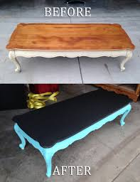 coffee table upcycled into kids chalkboard painted table diy