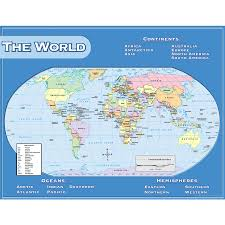 World Map North America by World Map Chart Tcr7658 Teacher Created Resources