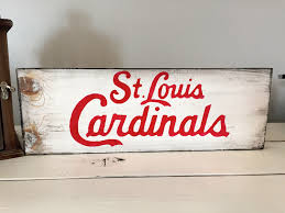 Cincinnati Reds Home Decor St Louis Cardinals Rustic Wood Sign Handmade Wood Sign Home