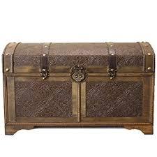 nostalgic large wood storage trunk wooden treasure