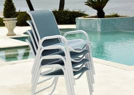 Stackable Sling Chairs Aluminum Sling Redbarn Furniture