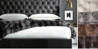 exotic faux fur oversized bed throw rh