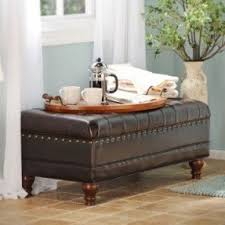 How To Reupholster A Leather Ottoman Leather Storage Benches Foter