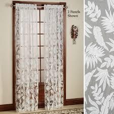 leaf pattern curtains drapes home decoration ideas