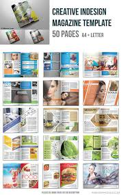 creative indesign magazine templates 50 pages on behance