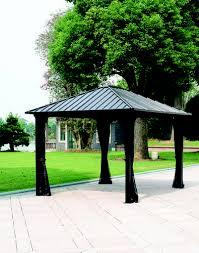 backyard creations sambra steel roof gazebo outdoors