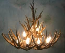 Deer Antler Light Fixtures Lighting Elk Antler Chandelier For Inspiring Unique Lighting
