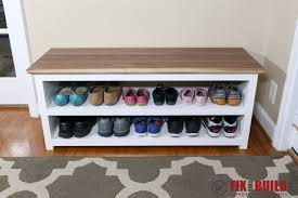 diy entryway bench diy entryway shoe storage bench fixthisbuildthat