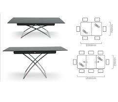 modern rising extension table calligaris magic j niagara