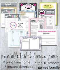 Words Of Wisdom Bridal Shower Game Printable Bridal Shower Games