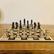 chess set home decor laser cut