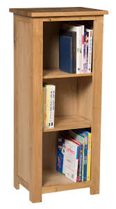Narrow Bookcase Oak by Waverly Oak Small Narrow Bookcase With 3 Shelves Hallowood