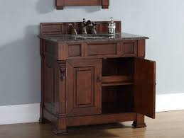 Black Distressed Bathroom Vanity 36 Inch Warm Cherry Bathroom Vanity Carrera White Marble Top